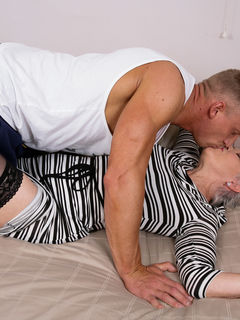 Mature slut Lady Sextasy fucking her toy boy