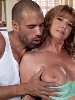 Mom Dee Delmar sucking and fucking a black dude