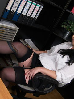 Bonny Devil fucking and sucking at the office