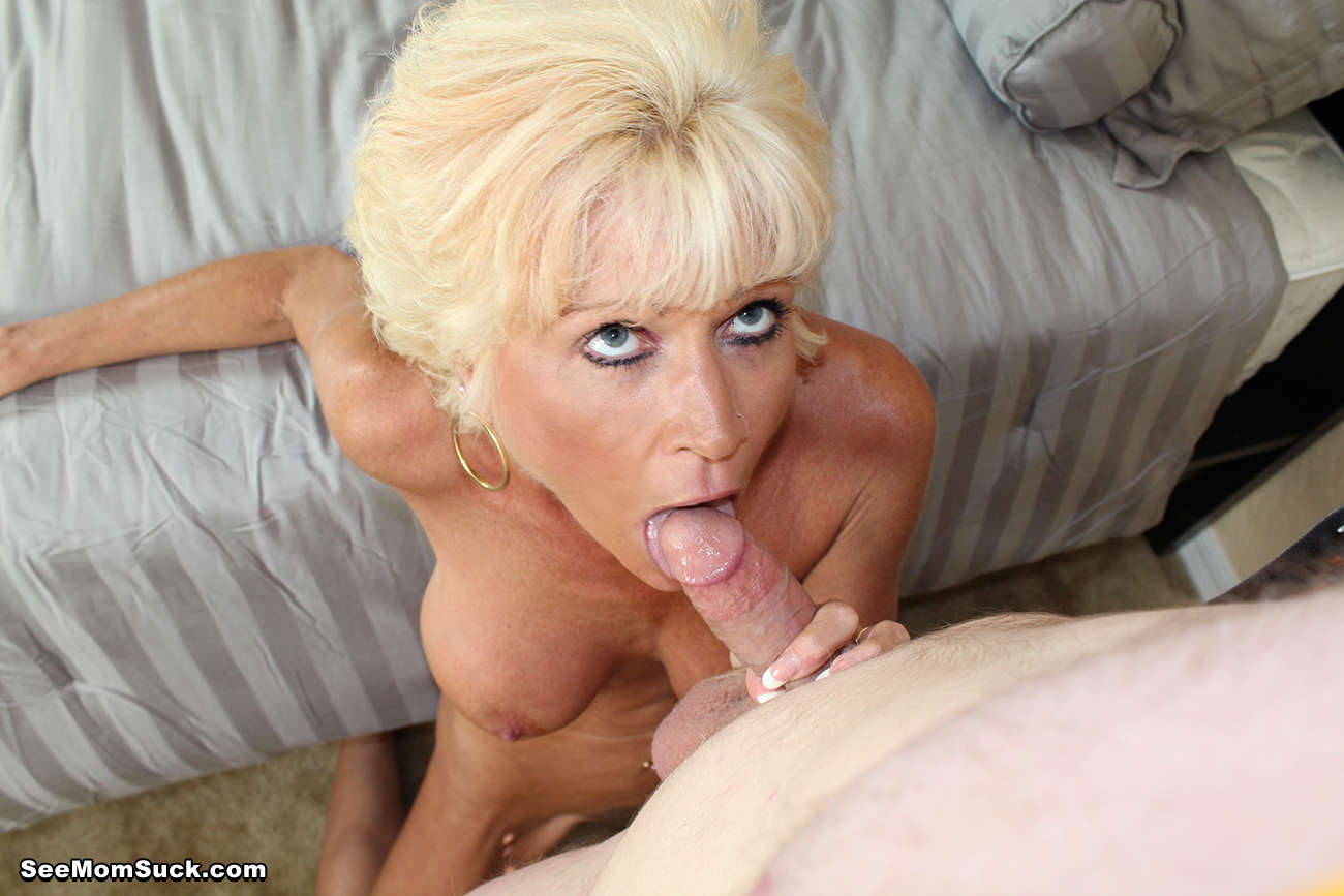 Blonde motherinlaw sucks and rides his big meat 1