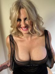 Blonde MILF Daniella English showing her huge tits
