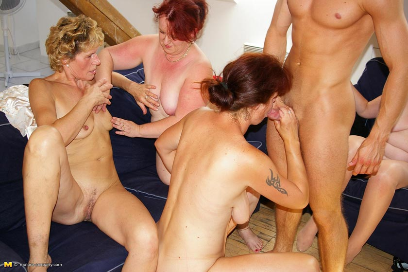 Mature mom orgy