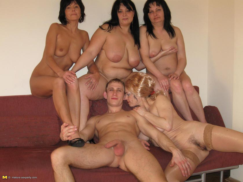 Mature group sex party and