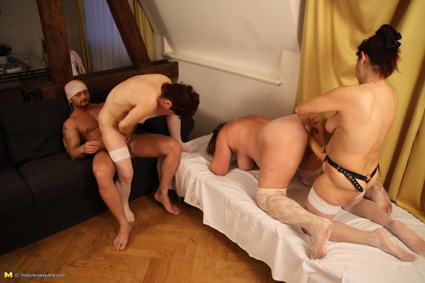 3 babes make dude smell feet and jerk off 2