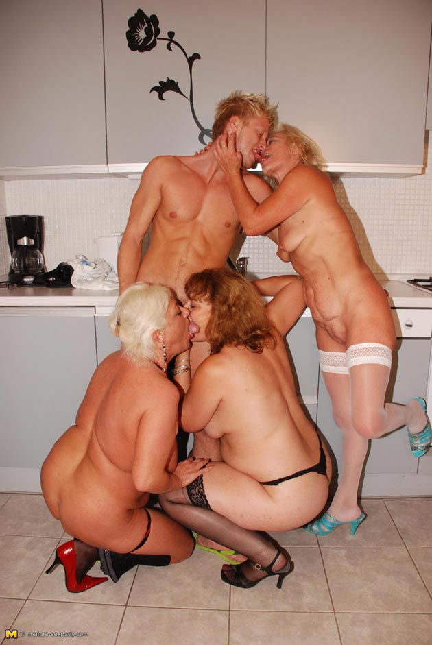 Mature sluts one hard cock sex party