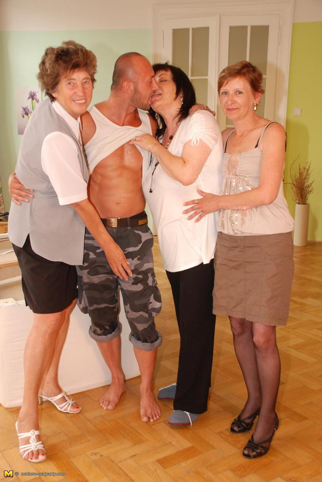dude mature Lucky fucking three