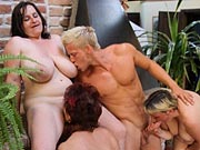 Dude loves banging three mature babes