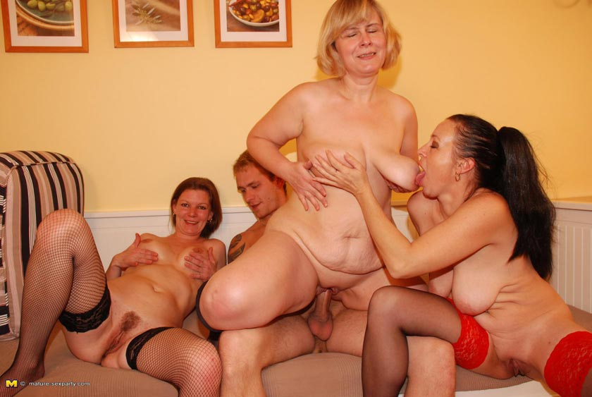 Mature women sex party